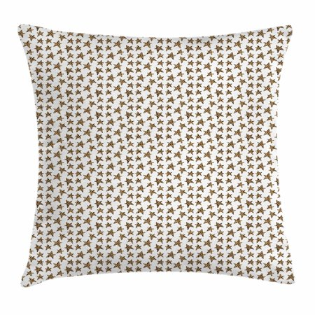Rock Star Themed Classroom (Star Throw Pillow Cushion Cover, Skin of Leopard Pattern Punk Rock Themed Illustration Abstract Animal Design, Decorative Square Accent Pillow Case, 18 X 18 Inches, Beige Black White, by)