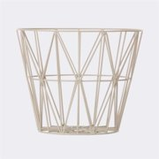 FERM LIVING 3096 Wire Baskets - Wire Basket - Grey - Large 60x45cm