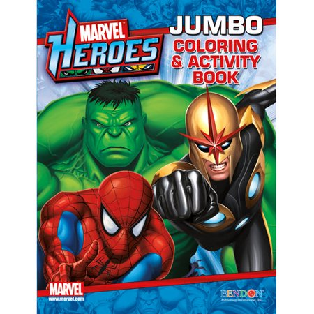 Marvel Heroes Jumbo Coloring And Activity Book Walmart Com