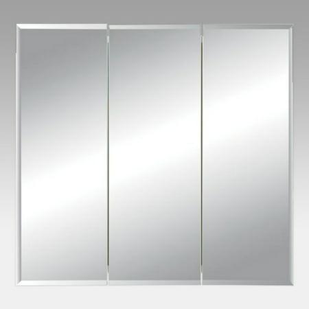 Jensen Medicine Cabinet Horizon Triple Door 36W x 28.25H in. Surface Mount Medicine Cabinet 255236
