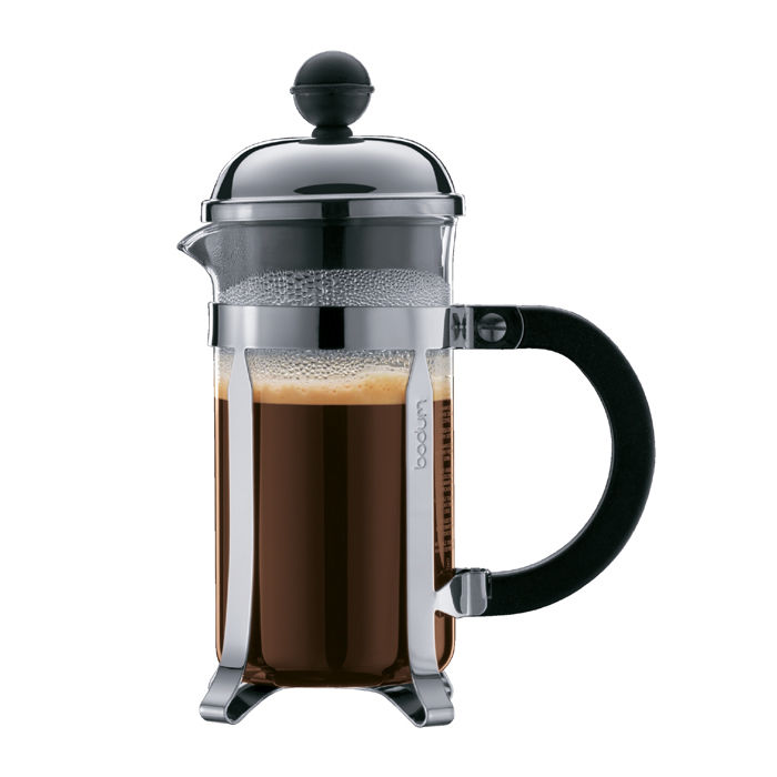 Bodum CHAMBORD French Press Coffee Maker, 3 cup, 0.35 L, 12 oz, Plastic and Chrome