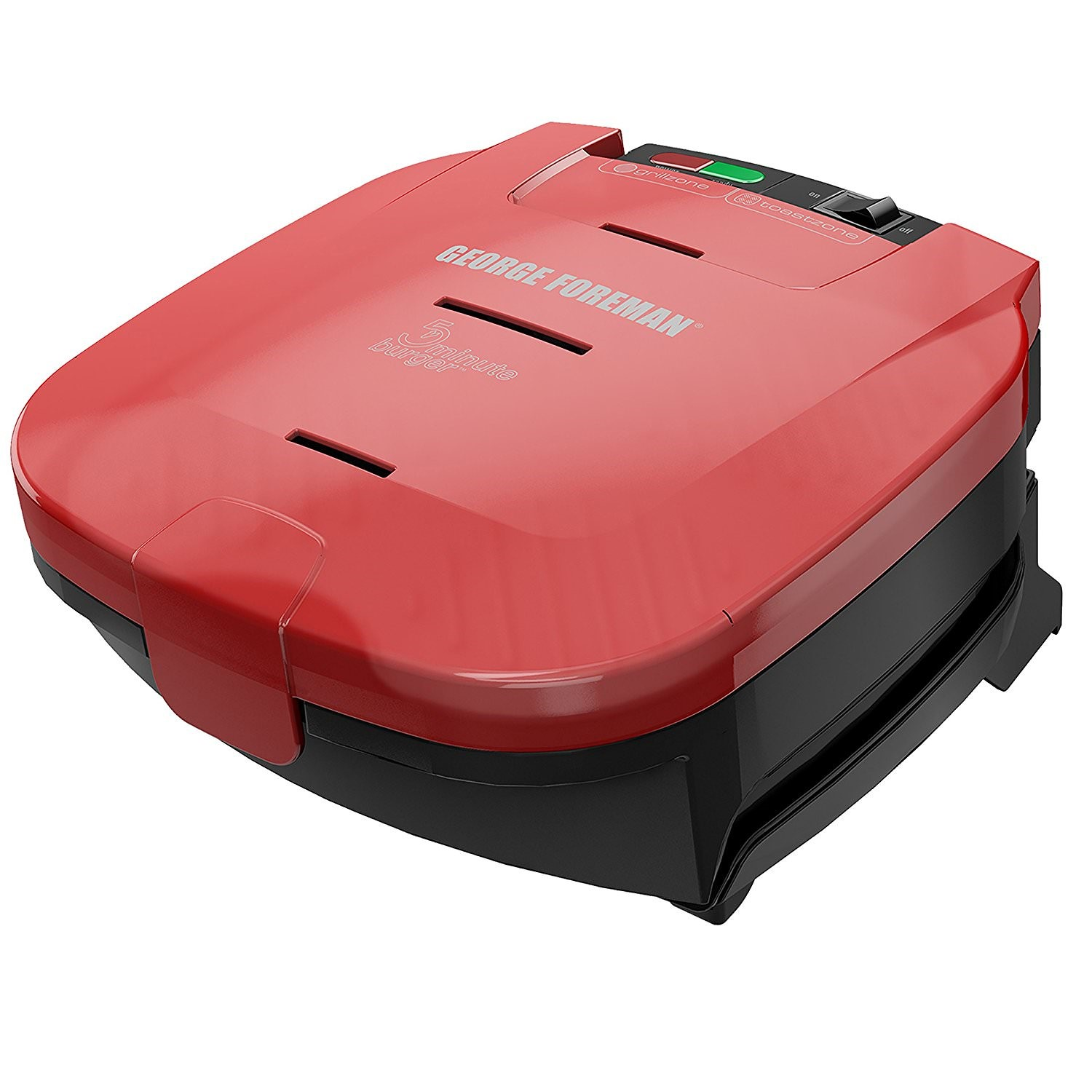 George Foreman 5-Minute Burger Grill, Red, GR1036BTR