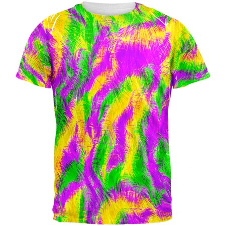 Mardi Gras Bourbon Street Monster Costume All Over Mens T Shirt - Mardi Gras Clothing Store