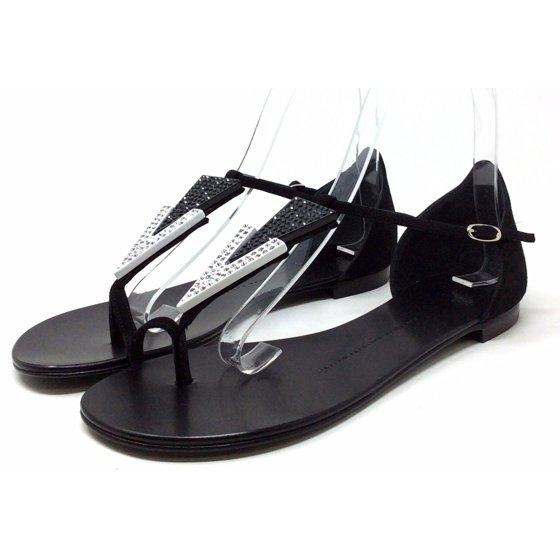 1169ddabc5be Giuseppe Zanotti - Giuseppe Zanotti Women s I50127 Sandal Flat Black ...