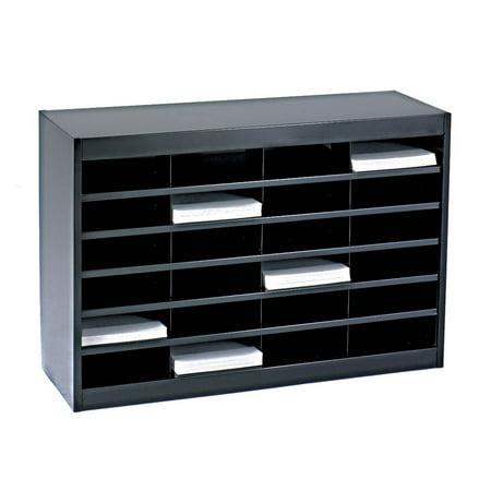 Black Stork - E-Z Stor 24 Compartment Literature Organizer in Black
