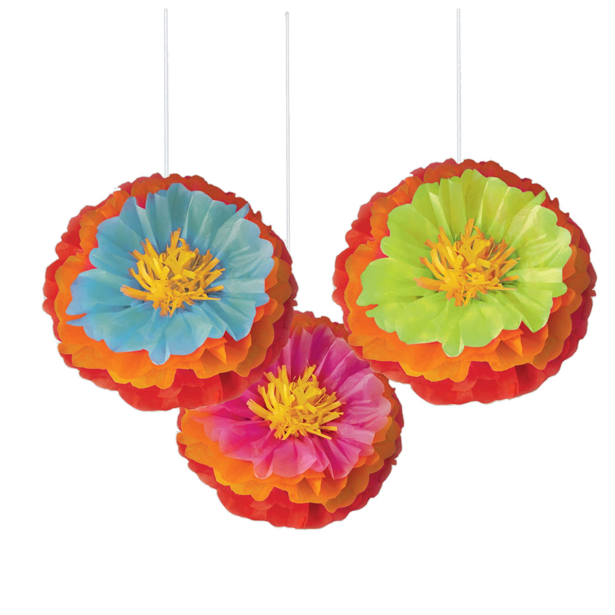 Fiesta Fluffy Flower Decoration
