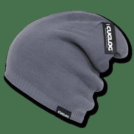 CUGLOG Acrylic Knit Reversible Slouch Beanie, Style K018