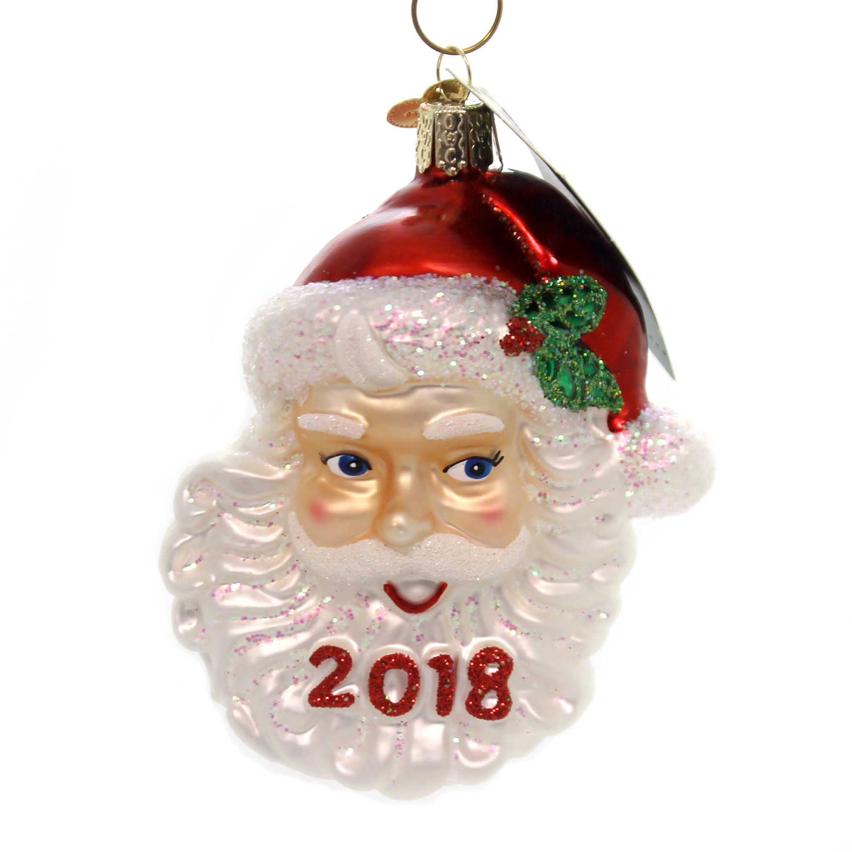 Old World Christmas 2018 NOSTALGIC SANTA Glass St Nick Ornament 40301