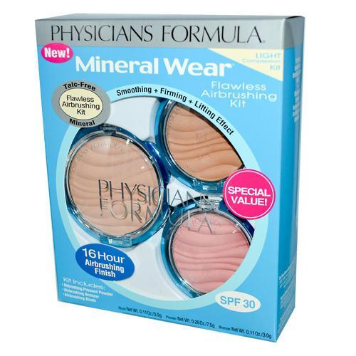 Physicians Formula Mineral Wear Flawless Airbrushing Kit, Light Complexion - 1 Ea, 6 Pack