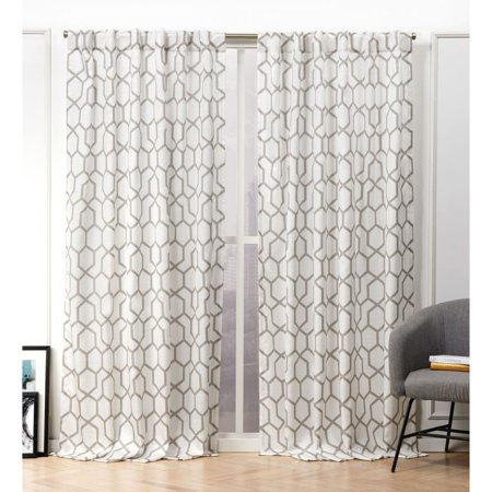 Nicole Miller Hexa Hidden Tab Top Curtain Panel Pair
