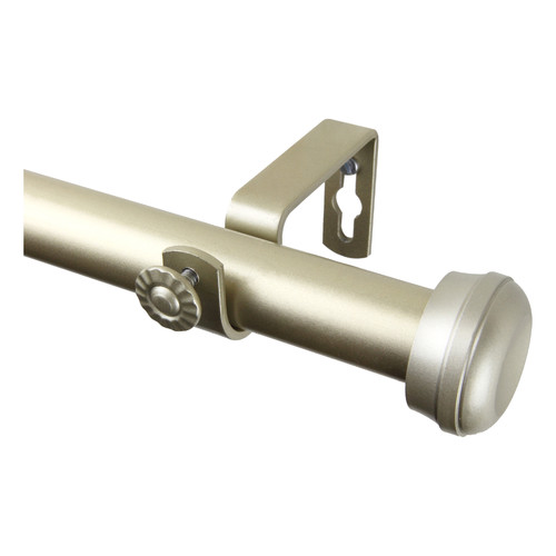 Rod Desyne Rosen Single Curtain Rod and Hardware Set by Rod Desyne