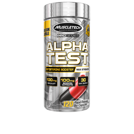 Pro Series AlphaTest Max-Strength Testosterone Booster for Men, 120