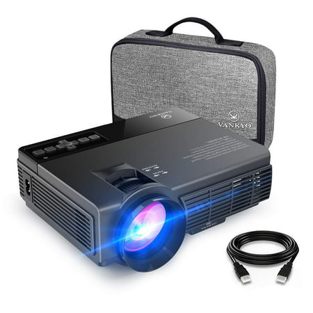 VANKYO Leisure 3 1080P Supported Mini Projector with 2400 Lux 40000 Hours Lamp Life, LED Portable Projector Support 170'' Display, Compatible with TV Stick, PS4, HDMI, VGA, TF, AV and USB (Best Led Projector Under 300)