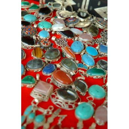 Mauritania Adrar Chinguetti Stones and jewellery Canvas Art - Aldo Pavan DanitaDelimont (24 x 35)