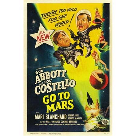Posterazzi MOV522333 Abbott & Costello Go to Mars C.1953 Movie Poster - 11 x 17 in. - image 1 of 1