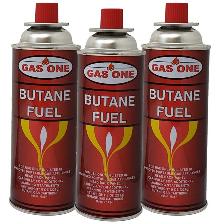 Butane Fuel Canisters for Portable Camping Stoves,Gas Burners, UL Listed-4pk