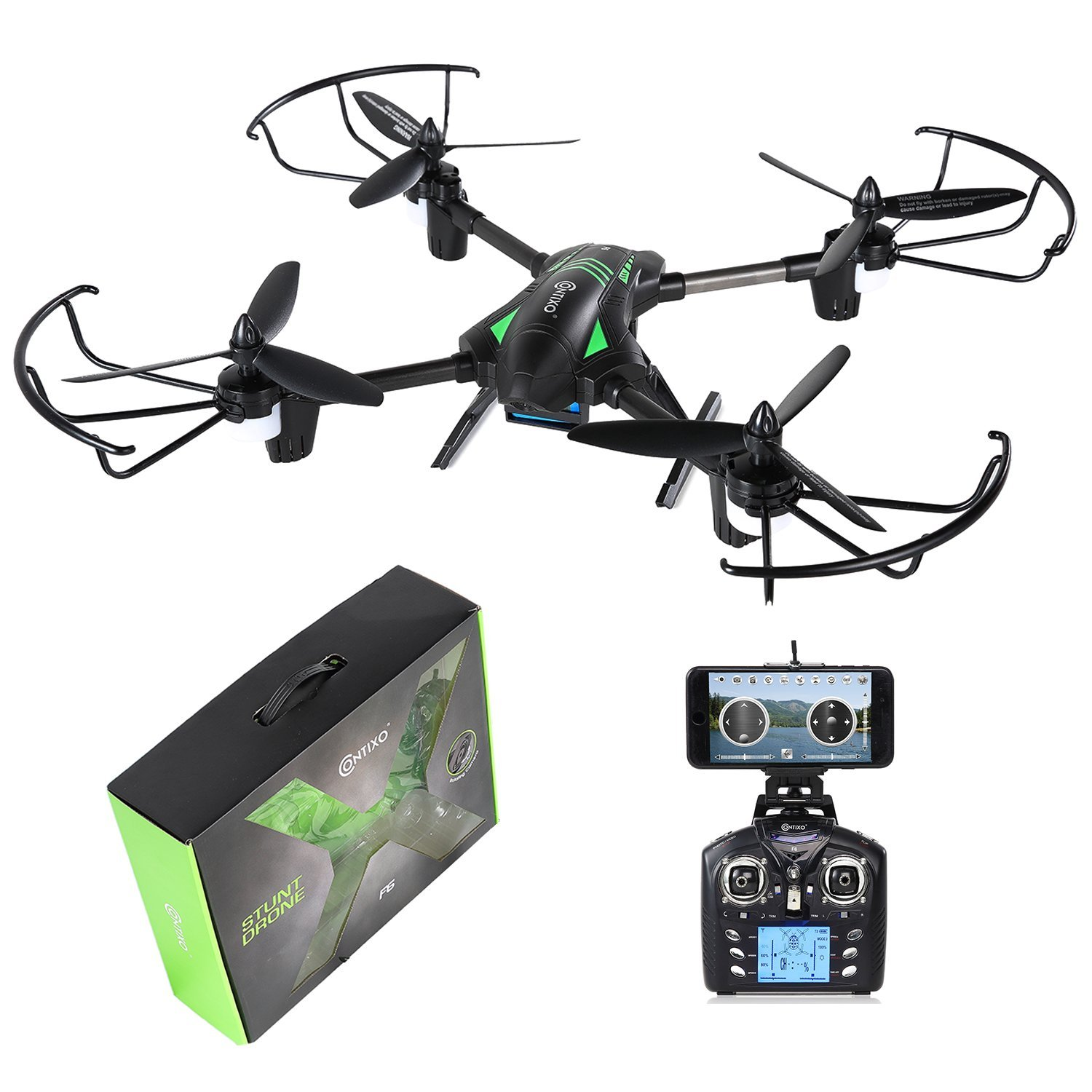 Contixo F6 RC Quadcopter Racing Drone 2.4Ghz 6-Axis Gyro with 720P Rotating