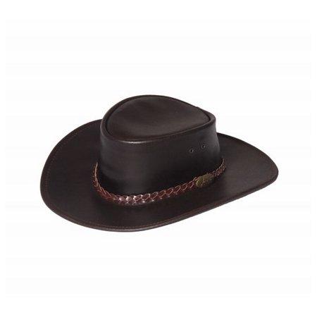 Jacaru Cowboy Hat Mens Bovine Leather Water Resistant Swagman 1003 - Leather Cowboy Hats