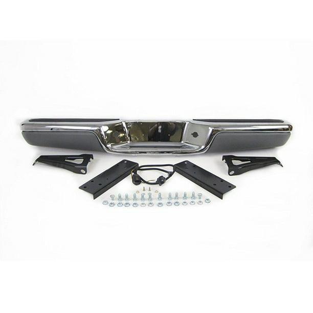 For 1997-2004 Dodge Dakota Rear Step Bumper Chrome Face Bar /& License Lamps