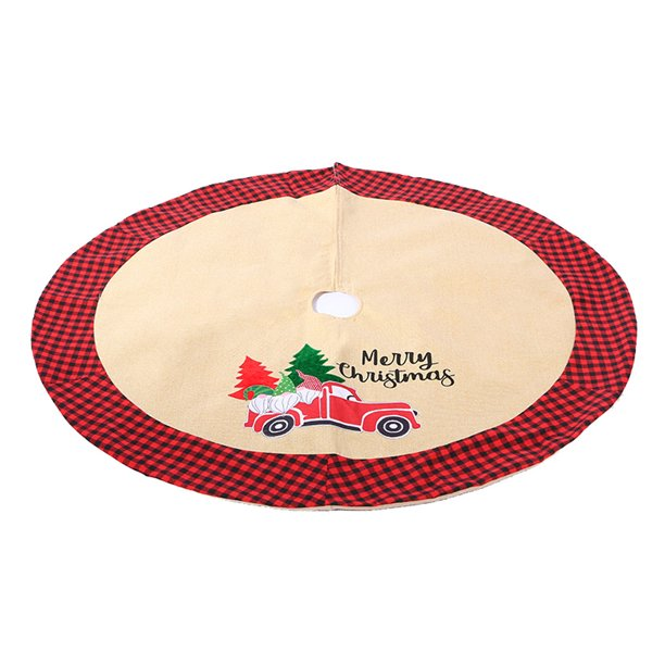 Umfun Christmas Tree Skirt 41inch Car Flower Pattern Xmas Tree Holiday Decorations Walmart Com Walmart Com