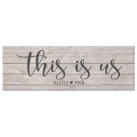 "Personalized This Is Us Canvas- 27""x 9"""