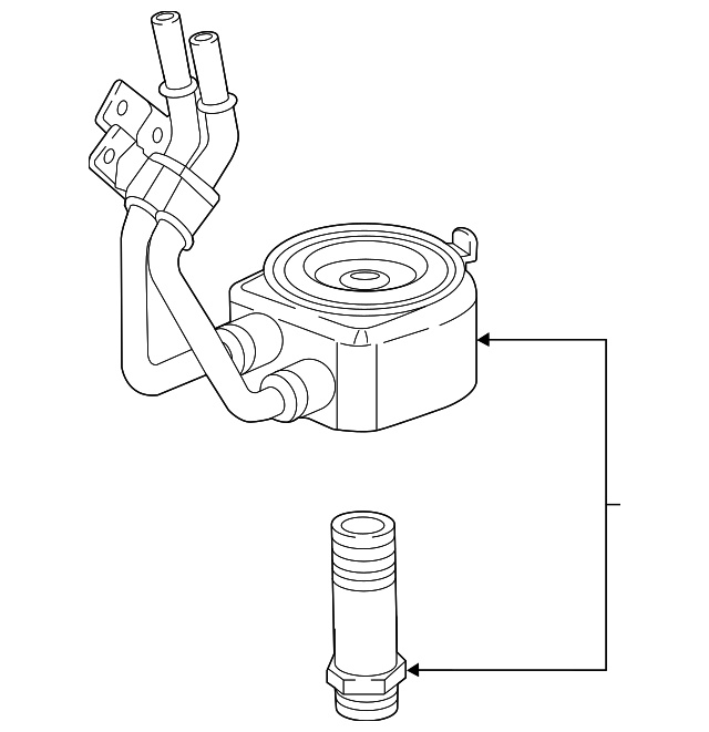 Genuine Oe Gm Oil Cooler 12658740