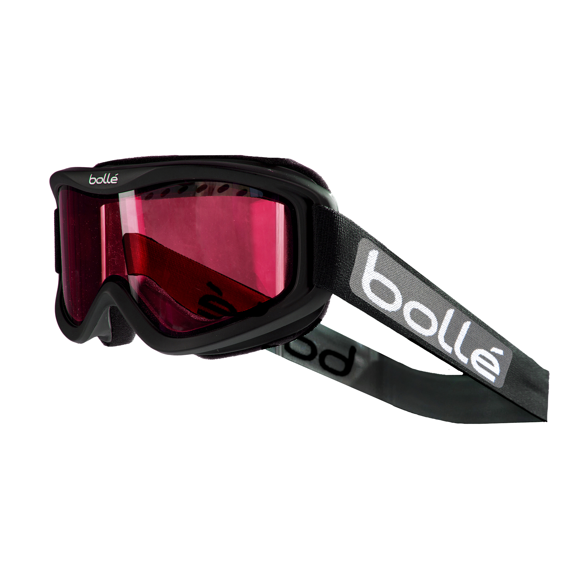 Bolle Carve Snow Goggles (Matte Black, Vermillion Gun) by