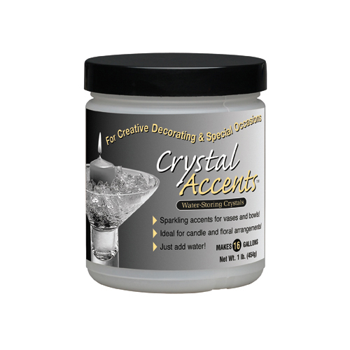 Crystal Accents 1 Pound Jar (Onyx Black) Color Water Storing Crystals Vase Filler Gel Makes 16 Gallons of Product