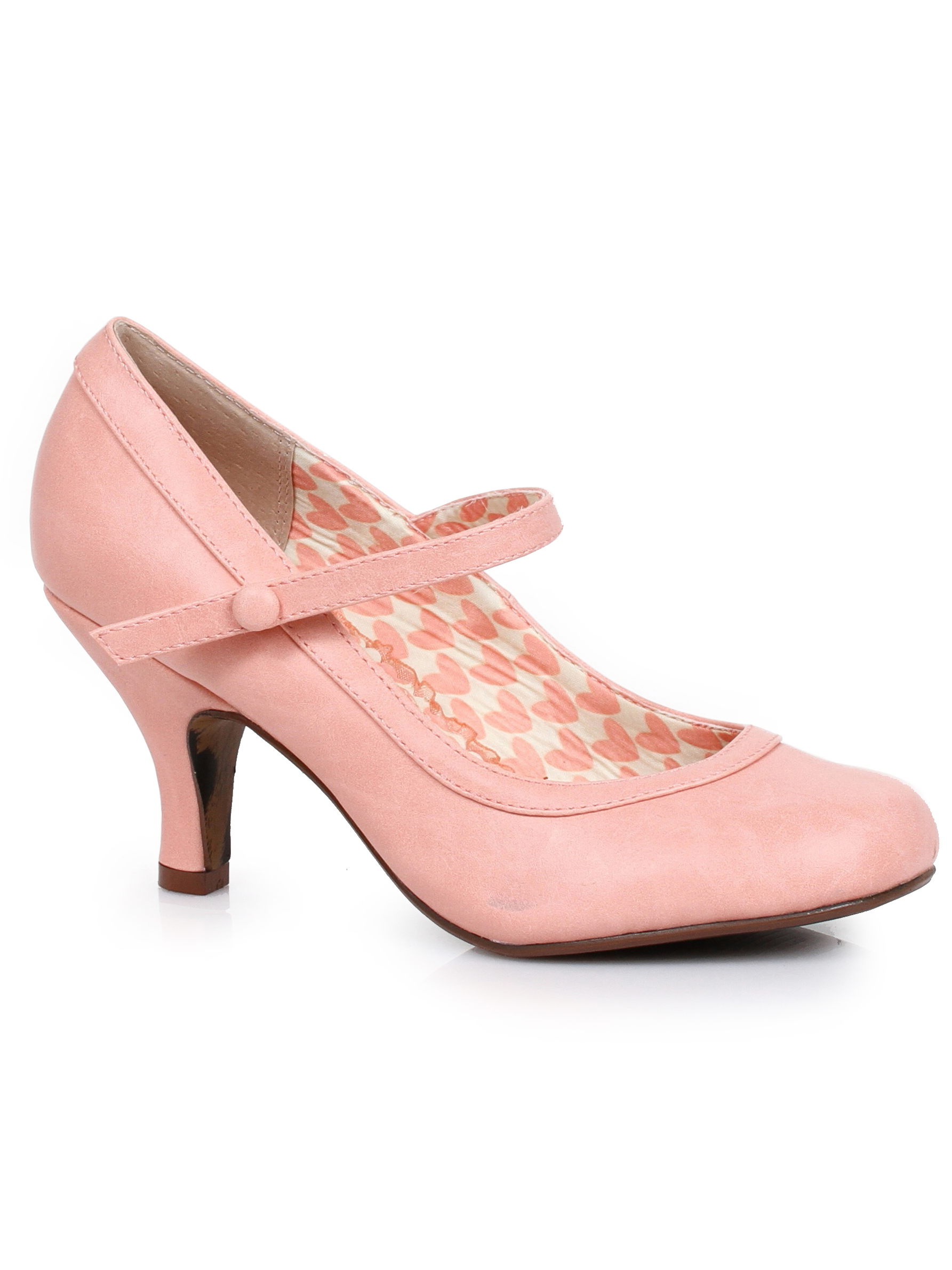 BP320-BETTIE, 3'' Retro Mary Jane Heel Shoes