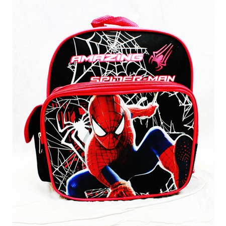 Mini Backpack - - Spiderman Black Hero School Bag Anime New a01282 (Spider Man Bag)