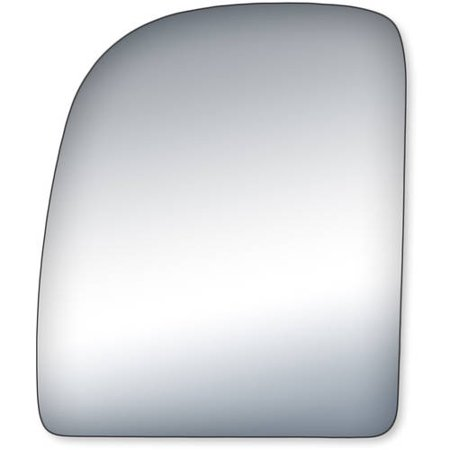 Econoline Mirror Glass (99237 - Fit System Driver Side Mirror Glass, Ford Econoline 02-14, F250, F350, F450, F550 Super Duty 99-07, Ford Excursion 00-05 (towing mirror top)