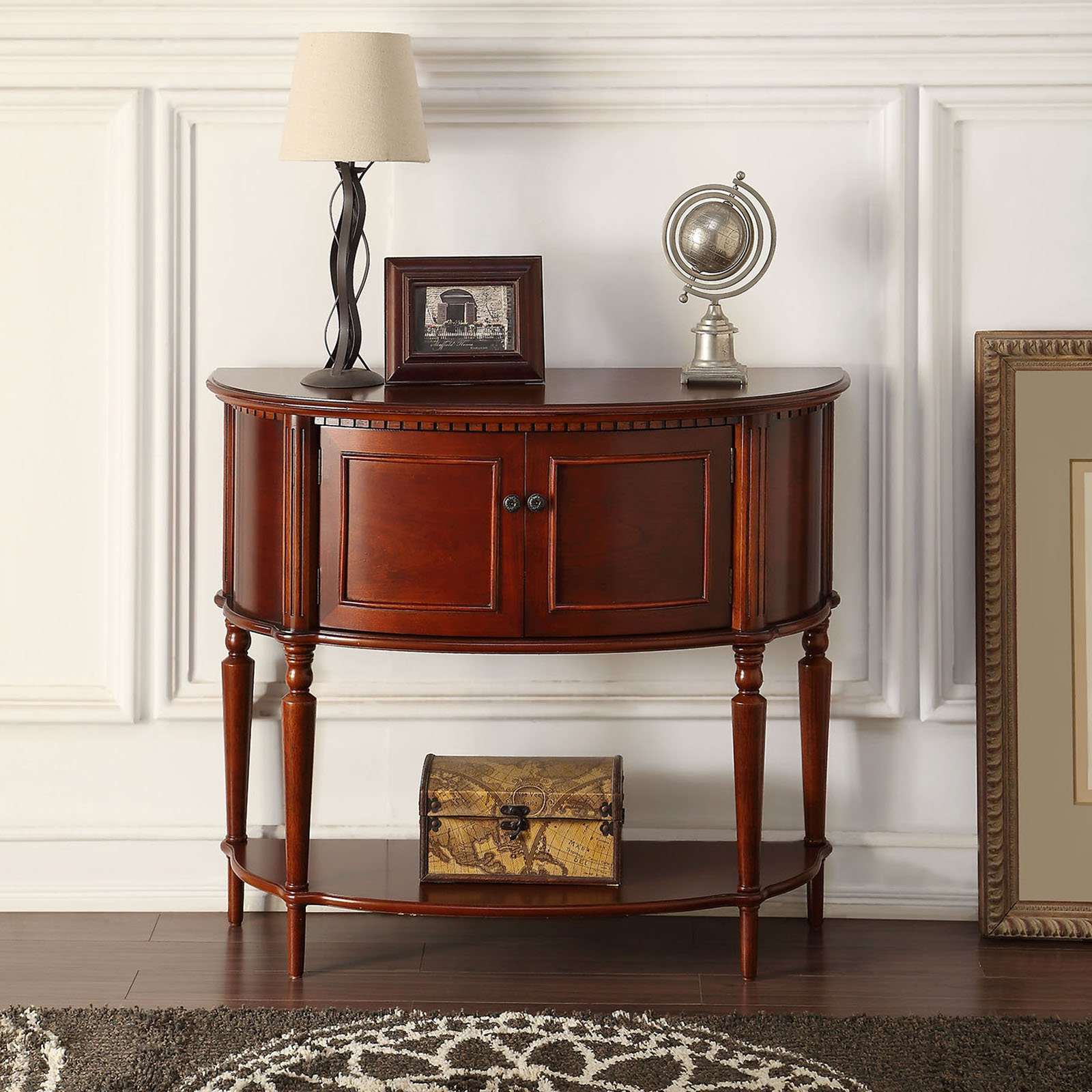 Acme Furniture Aplinas Crescent Console Table