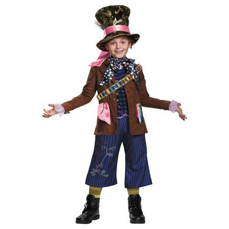 Mad Hatter Prestige Child Costume - Small (Mad Hatter Price Tag)