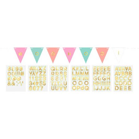Pastel Confetti Customizable Flag Banner (15ft) (Customizable Banner)