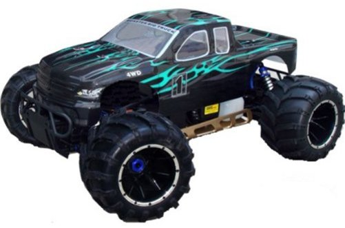 Redcat Racing Rampage MT V3 Gas Truck, Green Flame, 1 5 Scale by Redcat Racing