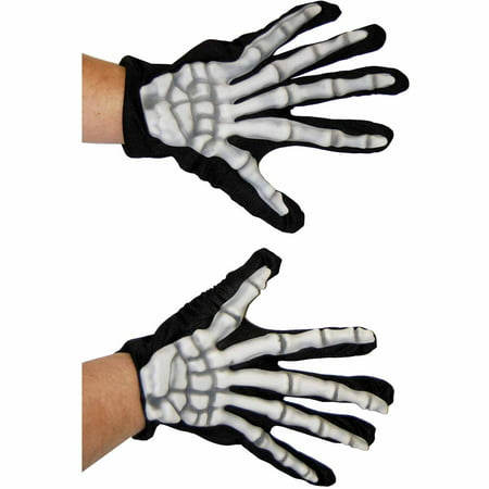 Gloves Skeleton Adult Halloween Accessory](Halloween Skeleton Q Tips)