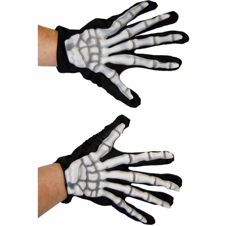 Gloves Skeleton Adult Halloween Accessory](Clipart Halloween Skeleton)