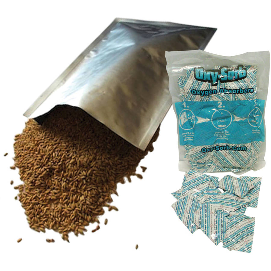50, 1 Gallon Mylar Bags & Oxygen Absorbers for Dried Food & Long Term Storage by Dry-Packs