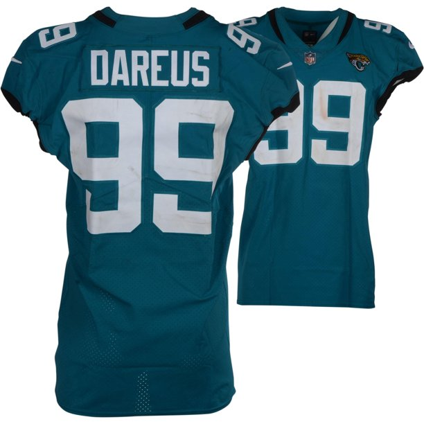 Marcell Dareus Jacksonville Jaguars Teal #99 Game-Used Jersey vs. Pittsburgh Steelers on November 18, 2018 - Fanatics Authentic Certified