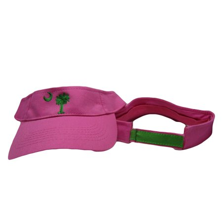 Embroidered South Carolina Sexy Hot Pink Palmetto Visor hat cap