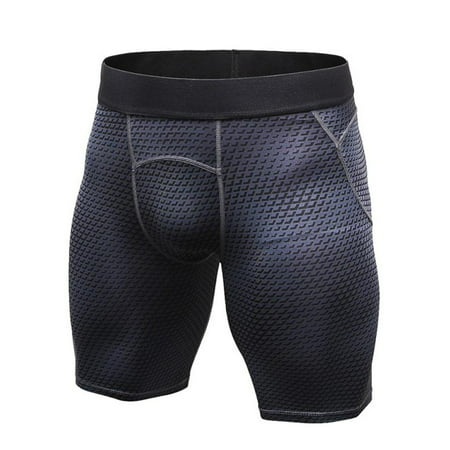Mens Sport Compression Shorts Quick-drying Workout Stretch