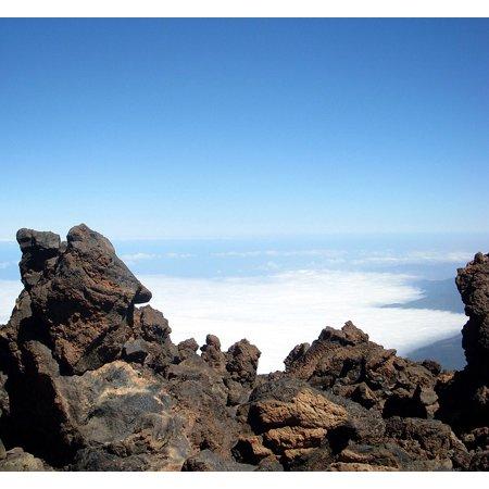 Volcanic Lava Rock - Canvas Print Volcanic Rock Tenerife Lava Teide National Park Stretched Canvas 10 x 14