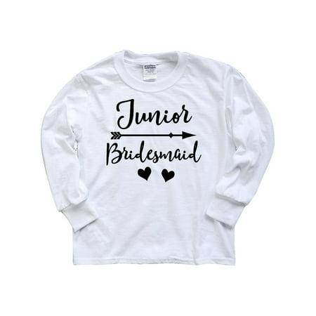 Junior Bridesmaid Wedding Bridal Party Gift Youth Long Sleeve T-Shirt](Junior Bridesmaid Gifts)