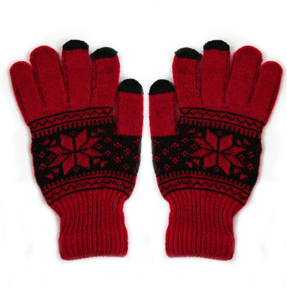 The Elixir Tech TG2 Series Universal Touch Screen Texting Gloves for iPhones, Android Phones, Smartphones, Tablets and Other Touch Screen Devices, Red