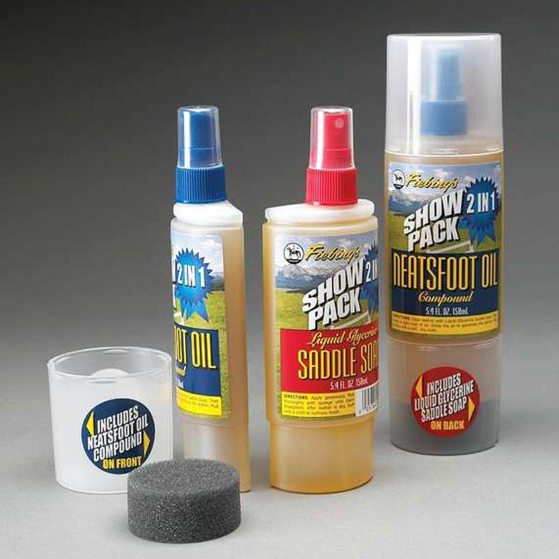 FIEBINGS LEATHER CARE NEATSFOOT OIL 2 IN 1 SHOW PACK W/ SADDLE SOAP