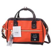 Anello Official Neon Orange / Brown Japan Fashion Shoulder Top-Handle Satchels Cross-Body Bag AT-H0851-OD