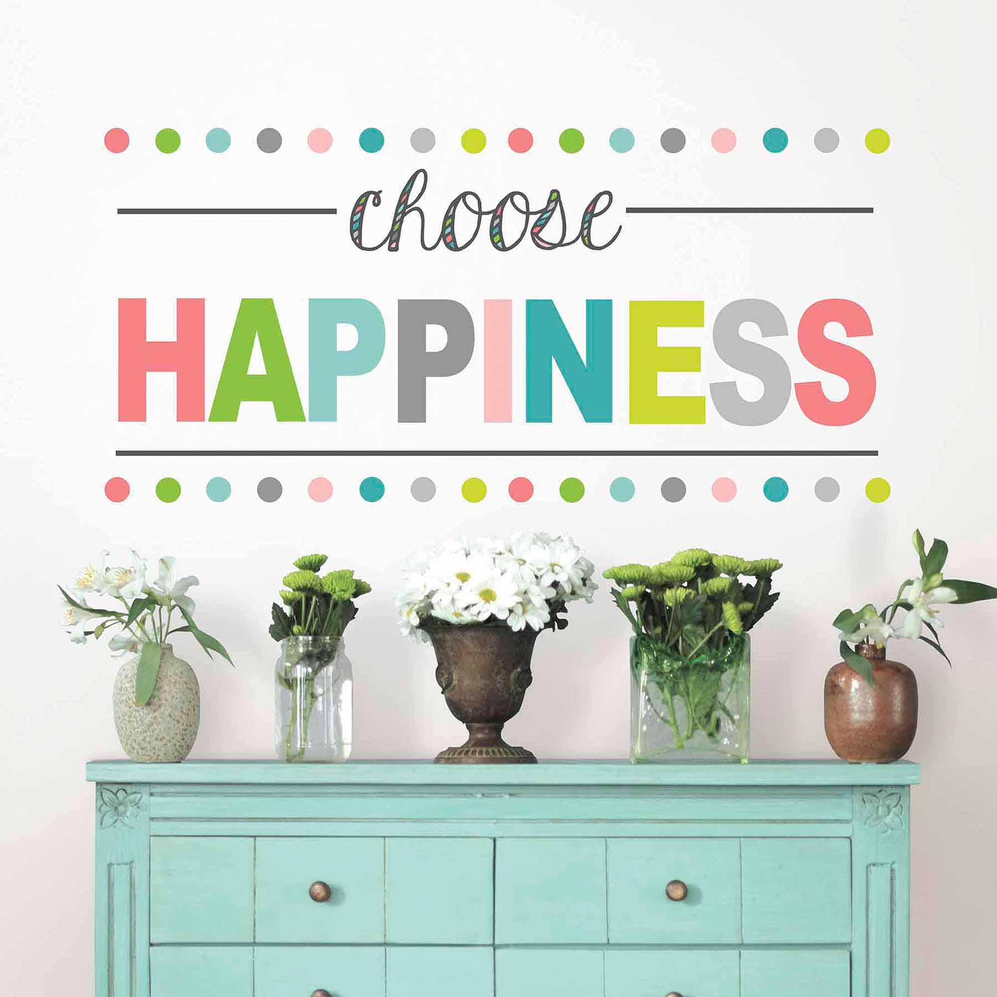 WallPops Choose Happiness Wall Quote Decal