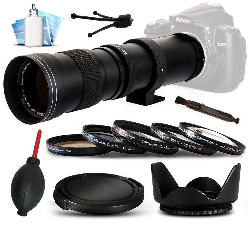 Opteka 420mm-800mm f8.3 Telephoto Lens Bundle for Panason...