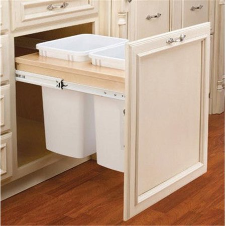 - Rev A Shelf Rs4Wctm.24Dm2 21 In. Double Top Mount 1.5 In. Face Frame Wood Waste Containers