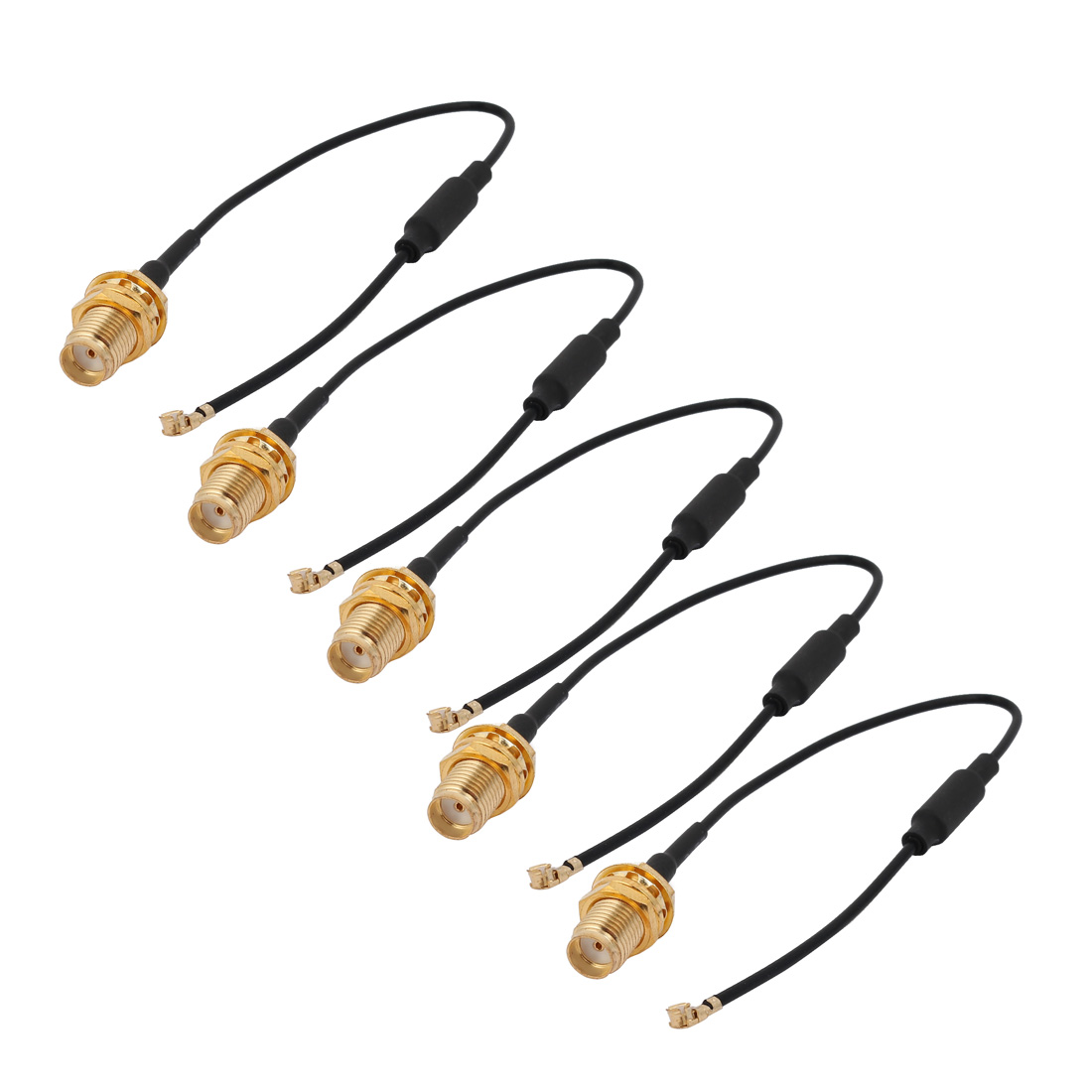 5 Pcs RF1.37 IPEX 1 to SMA Female Connector Pigtail Cable Antenna 15cm Length